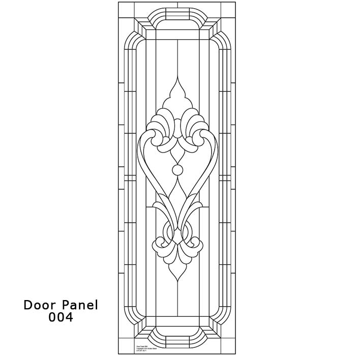Door Panel Design 004 Ornamental Stained Glass Buy Online