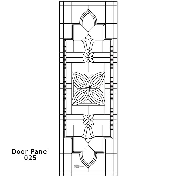 Door Panel Design 025 Ornamental Stained Glass Buy Online