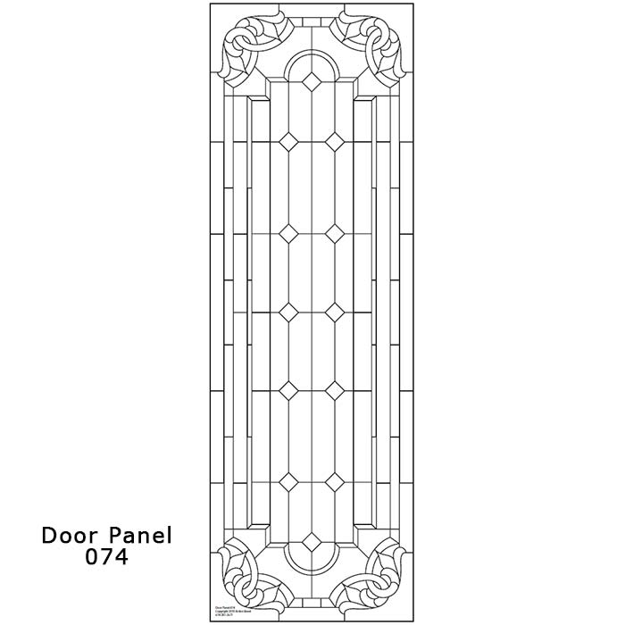 Door Panel Design 074 Ornamental Stained Glass Buy Online